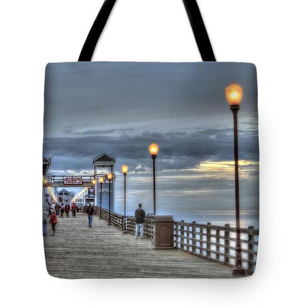 Oceanside Pier At Sunset Tote Bag