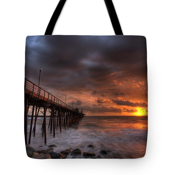 Oceanside Pier Perfect Sunset Tote Bag