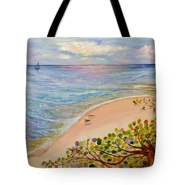 Seaside Grapes Tote Bag