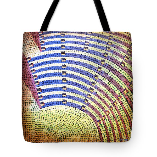 Tote Bag featuring the painting Ochre Auditorium by Mark Howard Jones