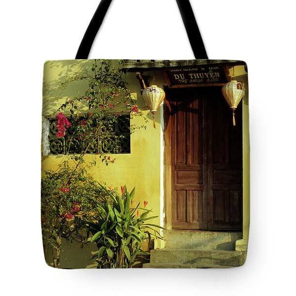 Ochre Wall 01 Tote Bag by Rick Piper Photography