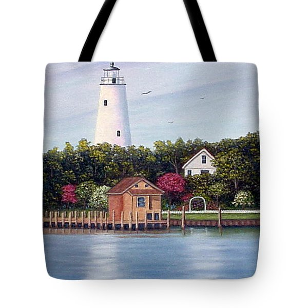 Ocracoke Island Light Tote Bag