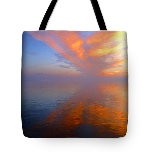 Ocracoke Nc Sunrise Tote Bag