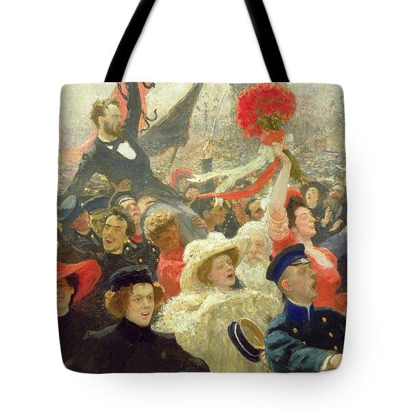 October 17th 1905 Tote Bag by Ilya Efimovich Repin