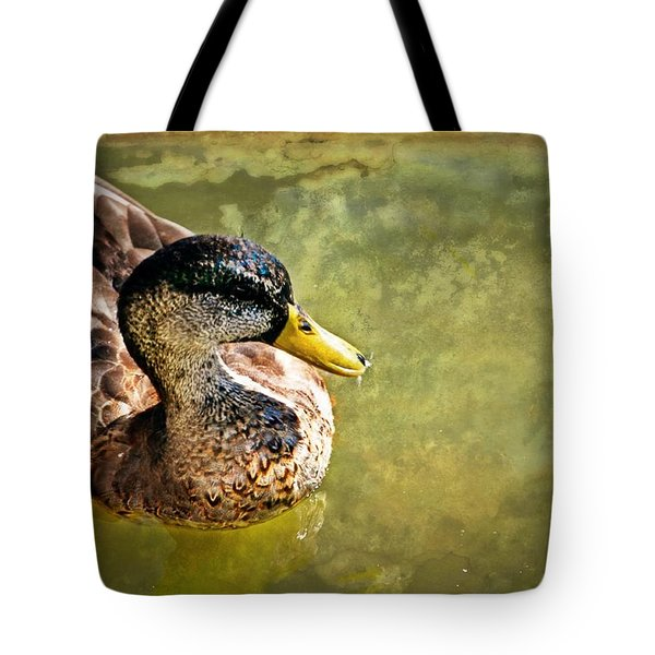 October Duck Tote Bag by Marty Koch
