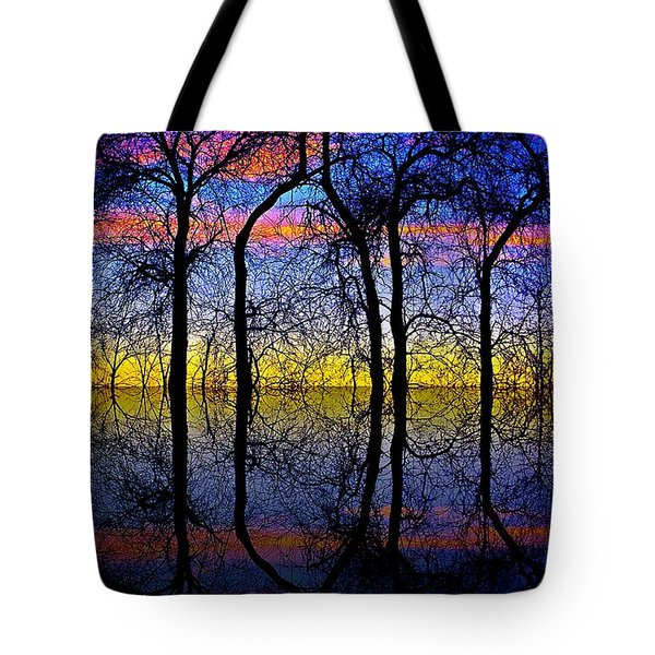 October Dusk  Tote Bag by Chris Berry
