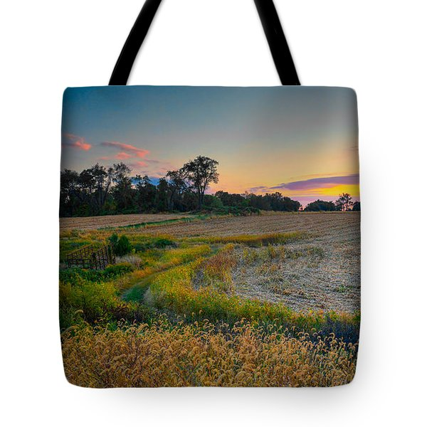 October Evening On The Farm Tote Bag