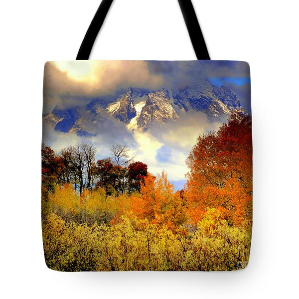October In Grand Tetons Tote Bag by Irina Hays