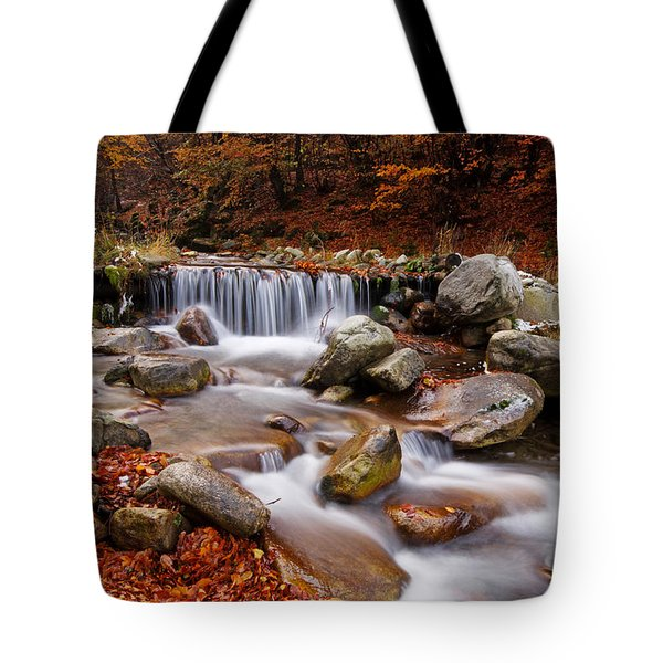October Stream Tote Bag by Mircea Costina Photography