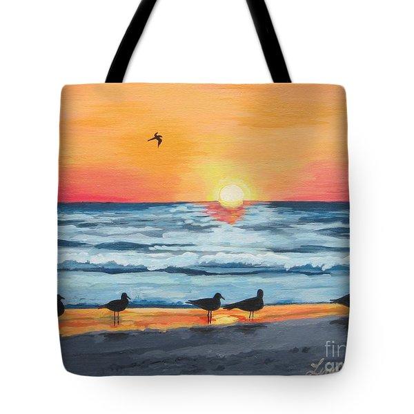 October Sunset On Siesta Key Florida Tote Bag by J Linder