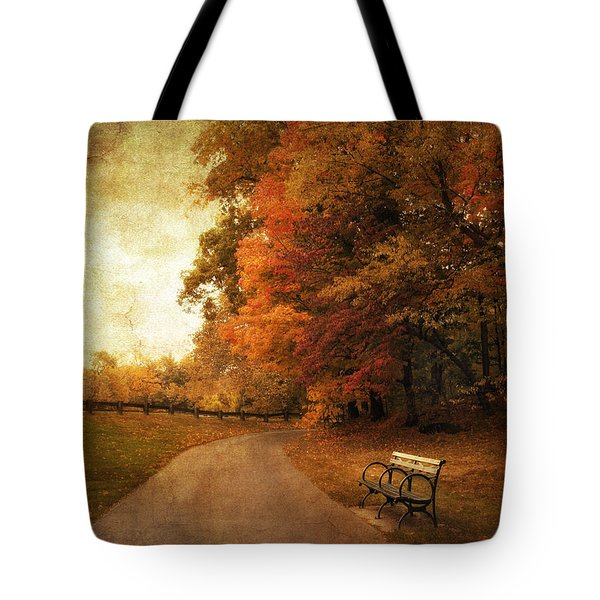 October Tones Tote Bag by Jessica Jenney