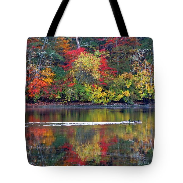 October's Colors Tote Bag by Dianne Cowen