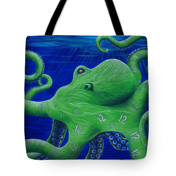 Tote Bag featuring the painting Octohawk by Rebecca Parker