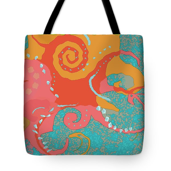 Tote Bag featuring the painting Octopus 1 by David Klaboe