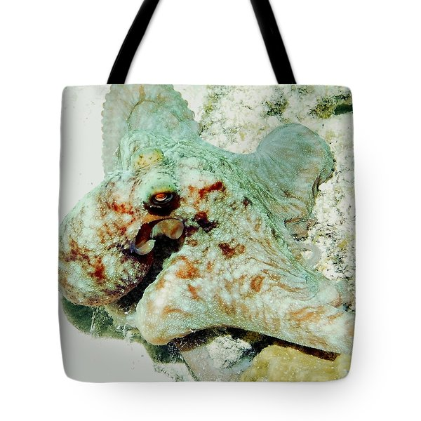 Octopus On The Reef Tote Bag