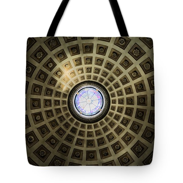Oculus At The Baths Of Diocleian Tote Bag by Joan Carroll
