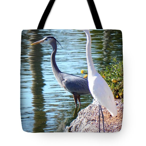 Tote Bag featuring the photograph Odd Couple by Deb Halloran