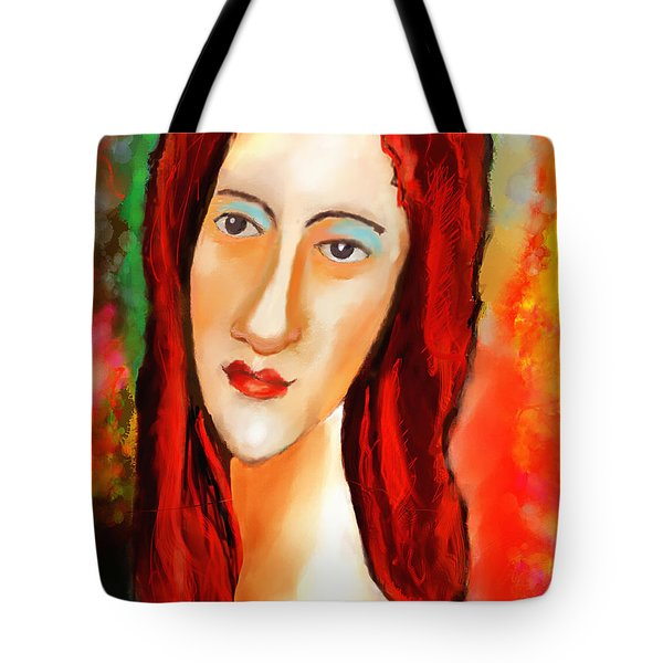 Ode To Modigliani Tote Bag by Ted Azriel