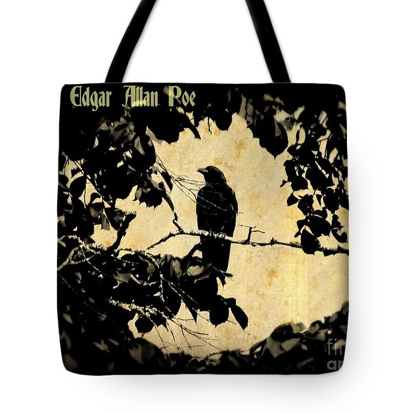 Ode To Poe Tote Bag by John Malone