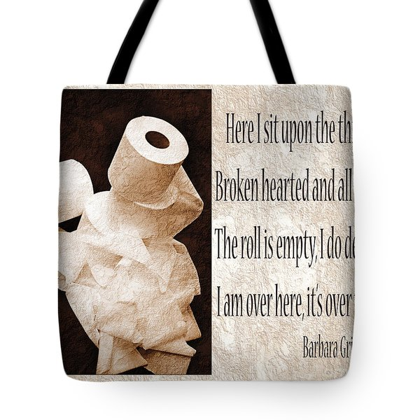 Ode To The Spare Roll Sepia 2 Tote Bag