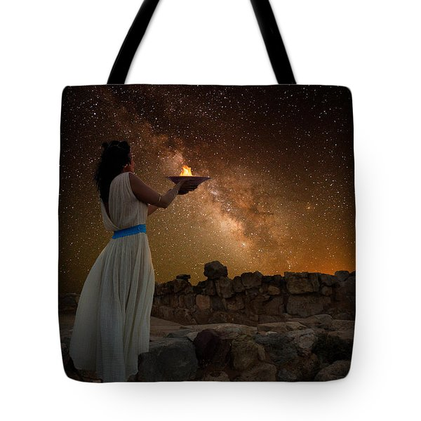 Ode To The Starry Sky Tote Bag