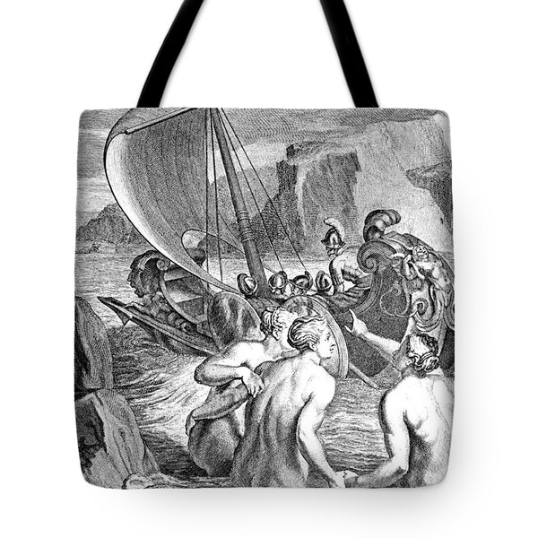 Odysseus Escapes Charms Of The Sirens Tote Bag by Photo Researchers