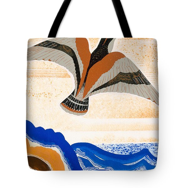 Odyssey Illustration  Bird Of Potent Tote Bag by Francois-Louis Schmied