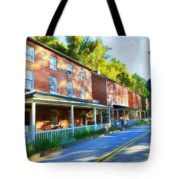 Tote Bag featuring the photograph Oella Avenue by Dana Sohr