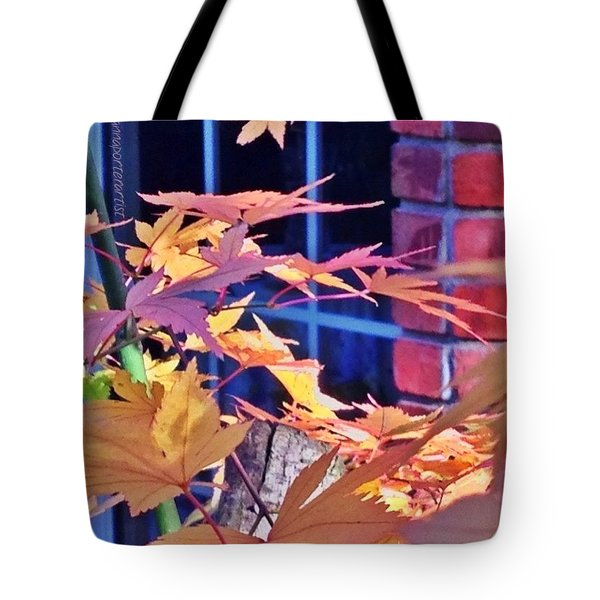 Of Maples And Bricks Tote Bag