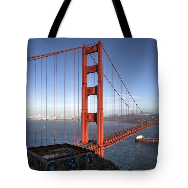 Tote Bag featuring the photograph Off She Goes On A Long Voyage by Peter Thoeny