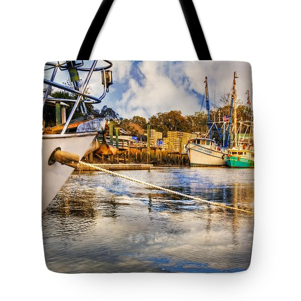 Off The Starboard Bow Tote Bag by Debra and Dave Vanderlaan