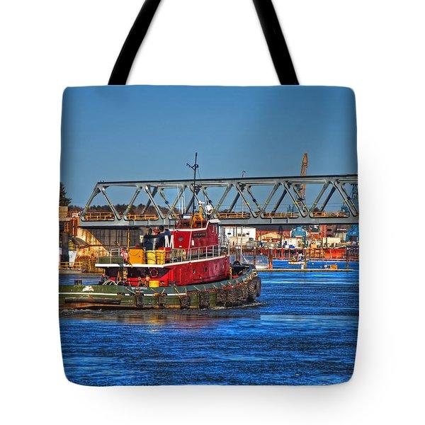 Off To Work Tote Bag by Joann Vitali