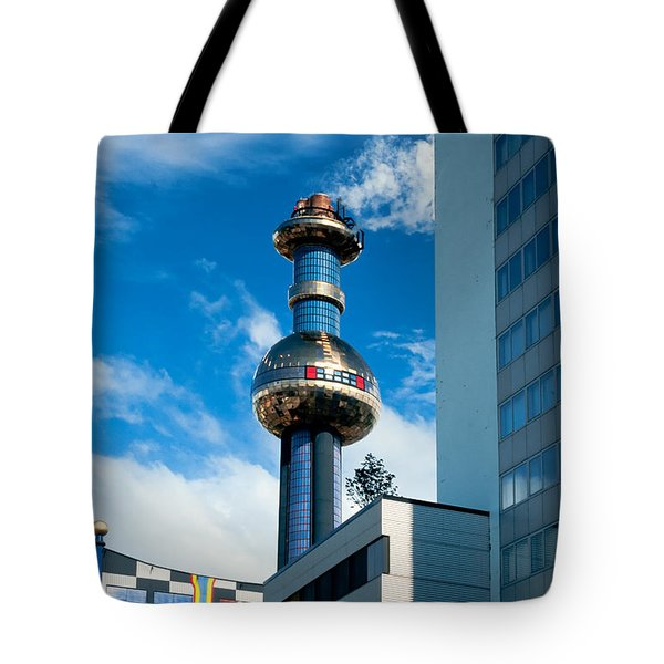 Office Building And Waste-to-energy Plant Vienna Tote Bag by Stephan Pietzko