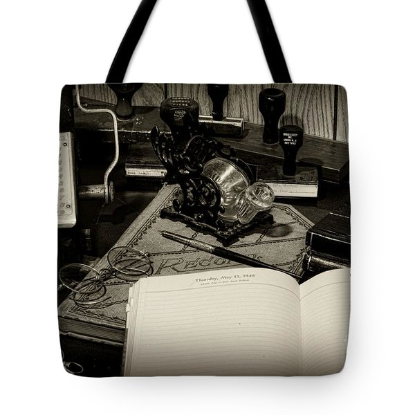 Office - The Recordkeeper Tote Bag