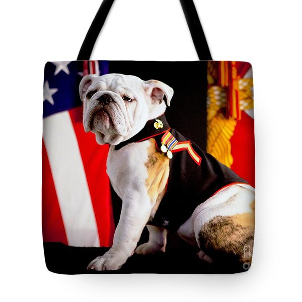 Official Mascot Of The Marine Corps Tote Bag by Pg Reproductions