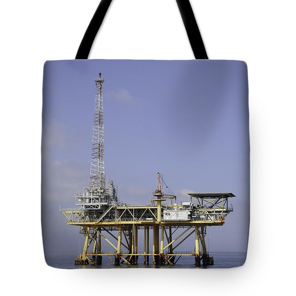 Tote Bag featuring the photograph Offshore Gas Platform by Bradford Martin