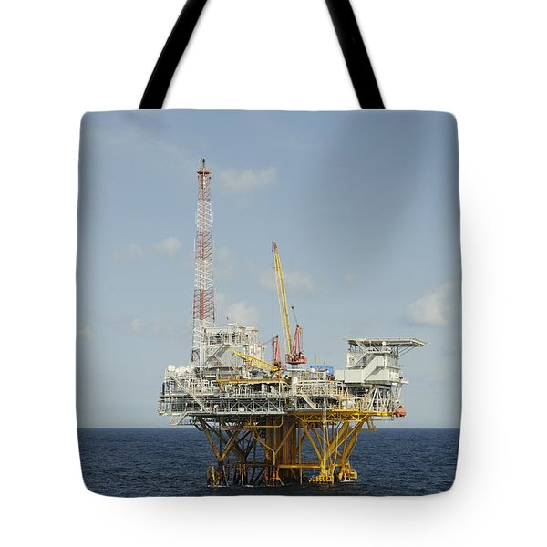 Tote Bag featuring the photograph Offshore Natural Gas Platform by Bradford Martin