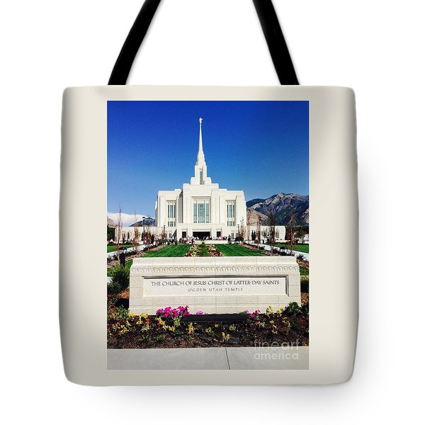Ogden Temple 1 Tote Bag by Richard W Linford