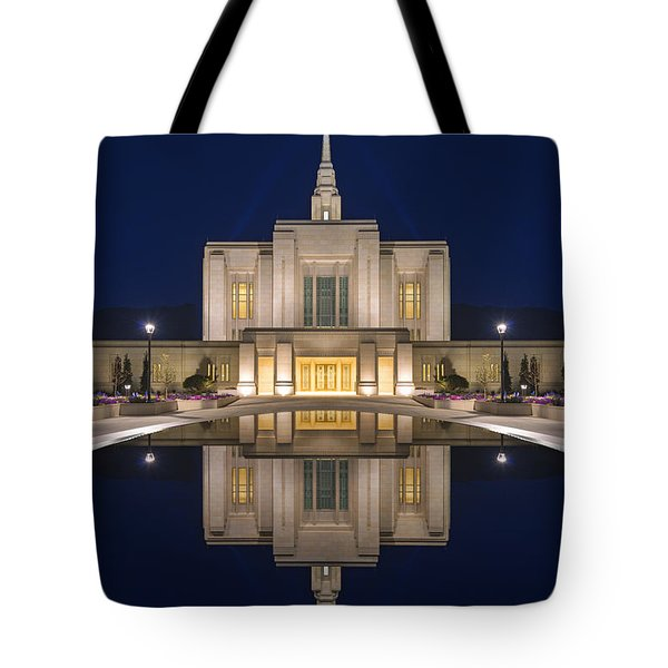 Ogden Temple Reflection Tote Bag