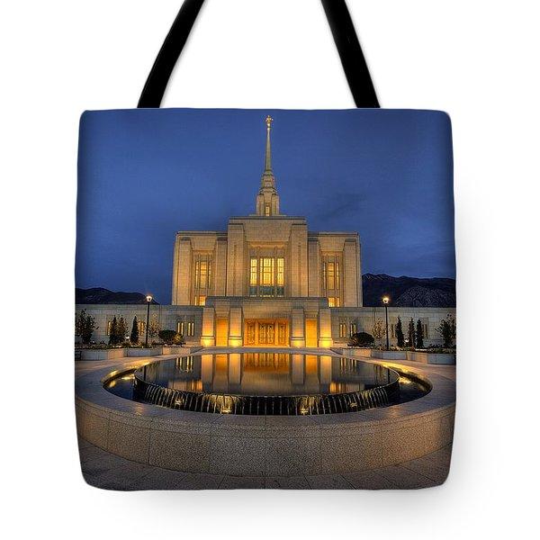 Ogden Temple Reflections Tote Bag