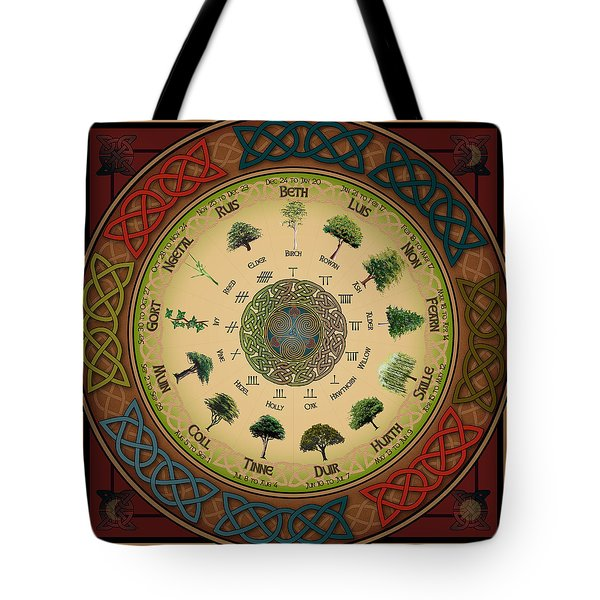 Ogham Tree Calendar Tote Bag