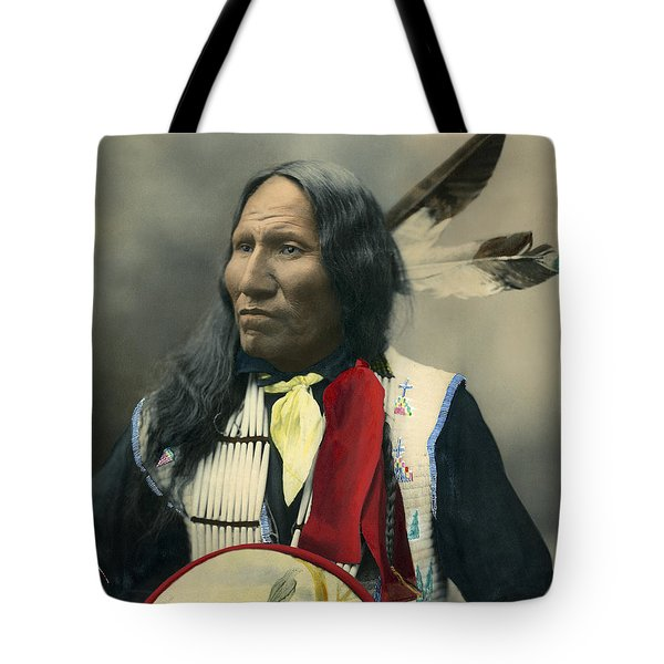 Oglala Chief Strikes With Nose 1899 Tote Bag