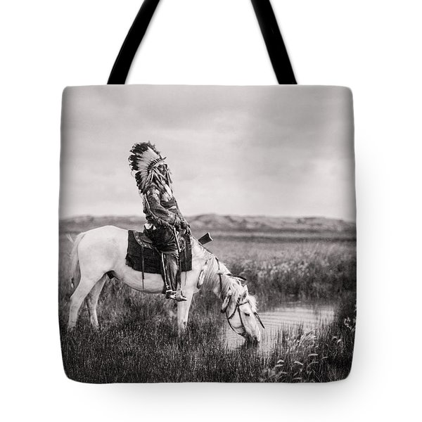 Oglala Indian Man Circa 1905 Tote Bag by Aged Pixel