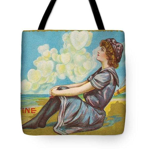 Oh Be My Valentine Postcard Tote Bag by American School