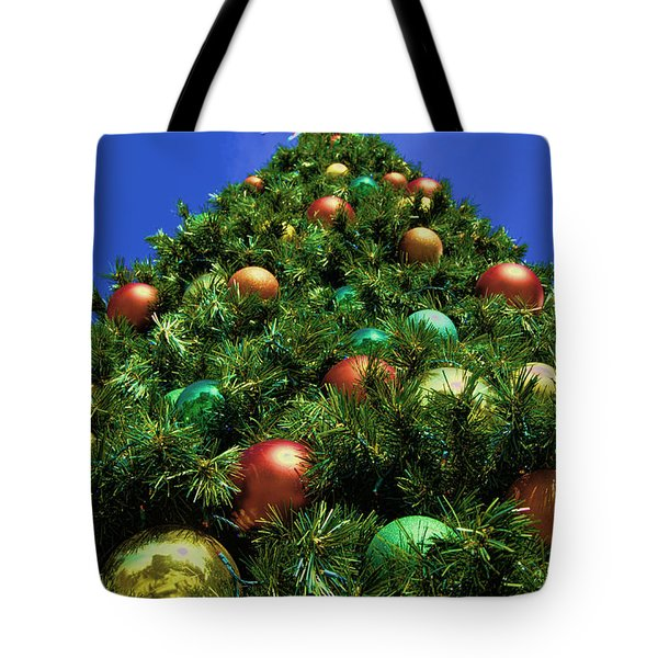 Oh Christmas Tree Tote Bag by Kathy Churchman