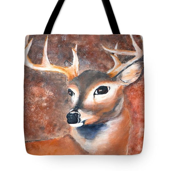 Oh Deer Tote Bag by Denise Tomasura