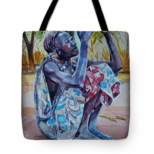 Oh God Oh God Tote Bag by Mohamed Fadul