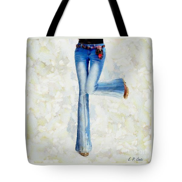 Tote Bag featuring the painting Oh Happy Day by Elizabeth Coats