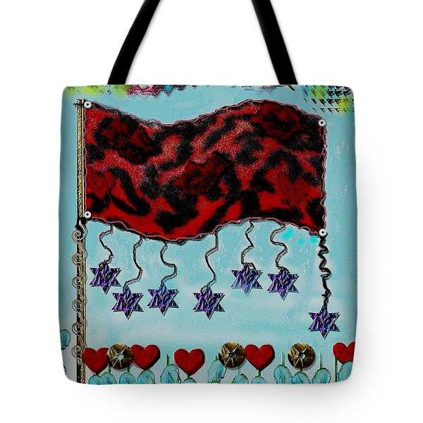 Oh Happy Days Flag Tote Bag by Pepita Selles