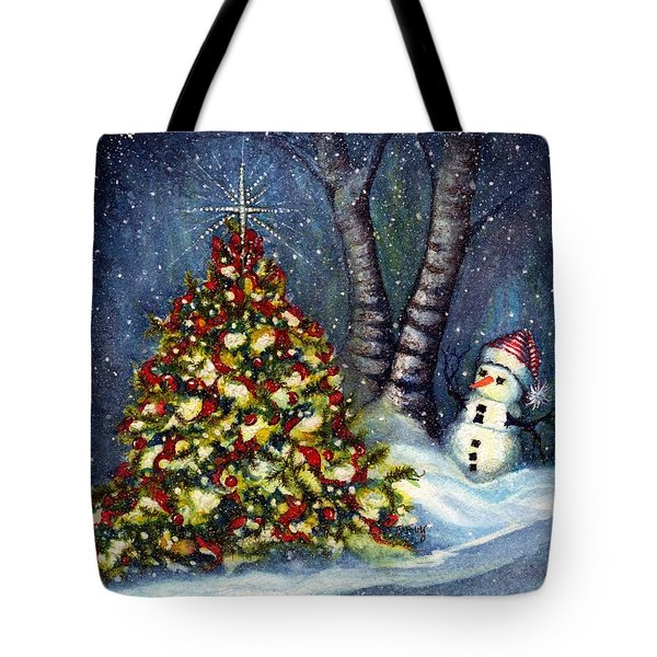 Oh My. A Christmas Tree Tote Bag